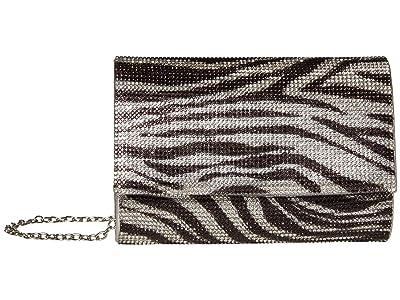 Jessica McClintock Alexis Sparkle Clutch (Zebra) Clutch Handbags