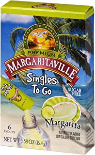 Margaritaville Singles To Go Water Drink Mix – Margarita Flavored, Non-Alcoholic..