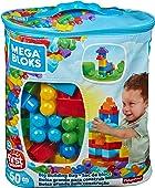 Mega Bloks Bolsa clásica con 60 bloques de construcción, juguetes bebés 1 año (Mattel DCH55)