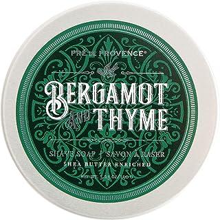Pre de Provence Men's Shave Soap Enriched with Natural & Repairing Shea Butter, Bergamot & Thyme, 5.29 Oz