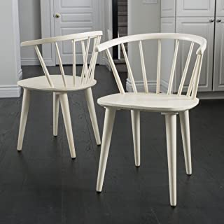 Christopher Knight Home Countryside Rounded Back Spindle Dining Chair, Antique White