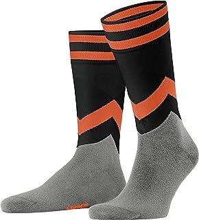Falke Men's Argyle Racing Socks, Black, 40-46