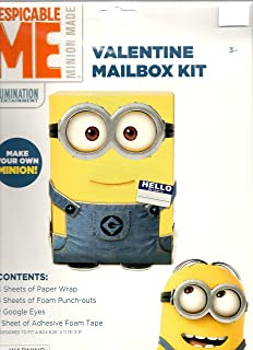 Despicable Me Minion Valentine Mailbox Kit (Box Not Included) Designed to Decorate a Box 8.25