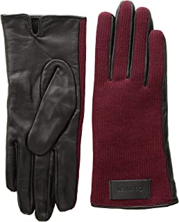 Women's Knit and Leather Gloves