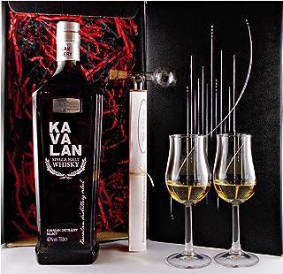 Geschenk Kavalan Distillery Select Single Malt Whisky  Glaskugelportionierer  2 Bugatti Gläser