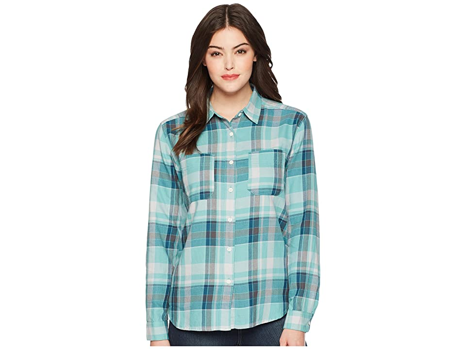 The North Face Long Sleeve Castleton Shirt (Bristol Blue Sierra Plaid) Women