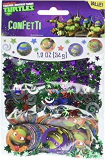 amscan Totally Tubular Teenage Mutant Ninja Turtles Party Confetti Mix Decoration, Paper, 1