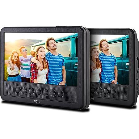 Odys Seal 7 Pro Tragbarer Dvd Player Mit Zusätzlichem Drehbarem Bildschirm 17 8 Cm 7 Zoll Digitales Panel Usb Autopaket Fernbedienung Schwarz Heimkino Tv Video