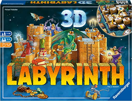 Ravensburger 26113 Labyrinth 3D, Versión Española, Juego de Mesa para Niños y Adultos, Jugadores 2-4, Edad Recomendada 7+: Kobbert, Max J., Feldkötter, Michael: Amazon.es: Juguetes y juegos