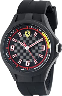Ferrari Men's 0830005 Pit Crew Analog Quartz Black Watch