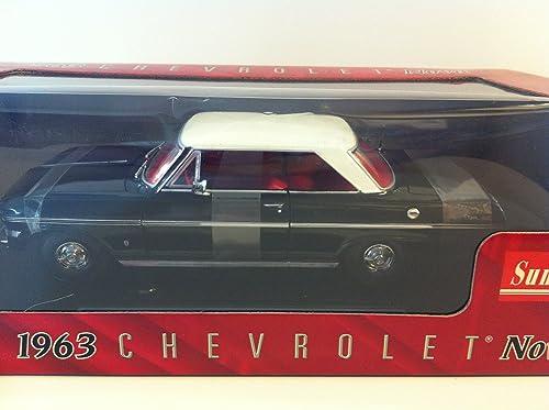 Obtén lo ultimo 1963 Chevrolet Nova [Sun Star 3964], negro negro negro   blanco, 1 18 Die Cast  marca famosa