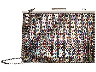 Jessica McClintock Mckayla Frame (Multi/Silver) Clutch Handbags