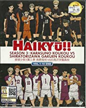 HAIKYU!! SEASON 3 : KARASUNO KOUKOU VS SHIRATORIZAWA GAKUEN KOUKOU - COMPLETE ANIME TV SERIES DVD BOX SET (1-10 EPISODES)