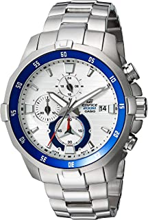 Men's Edifice Quartz Watch with Stainless-Steel Strap, Silver, 9 (Model: EFM-502D-7AVCF)