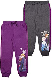 Disney 2-Pack Frozen II Joggers Pants, Elsa Pajamas for Girls, Kids, and Toddlers