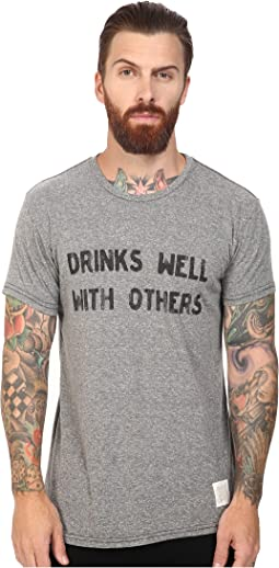 The Original Retro Brand - Drinks Well With Other Short Sleeve Tri-Blend Tee