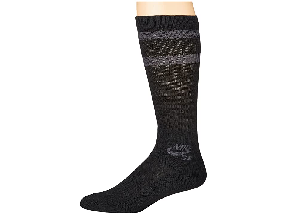 Nike Crew Skateboarding Socks 3-Pair Pack (Black/Anthracite) Crew Cut Socks Shoes, Multi