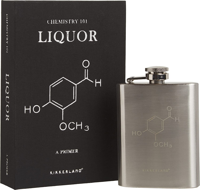 Kansas City Mall Kikkerland Chemistry 101 Classic Book Flask