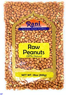 Rani Peanuts, Raw Whole With Skin (uncooked, unsalted) 28oz (800gm / 1.875lbs) ~ All Natural | Vegan | Gluten Free Ingredients | Fresh Product of USA ~ Spanish Grade Groundnut / Redskin