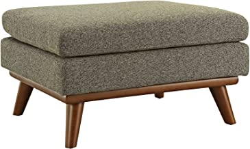 (Ottoman, Oatmeal) - Modway Engage Mid-Century Modern Upholstered Fabric Ottoman In Oatmeal
