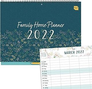 Boxclever Press planer rodzinny Kalendarz rodzinny na 16 miesięcy na rok 2021/2022 od września 2021 do grudnia 2022. Układ...