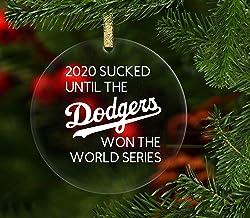 Lplpol Dodgers World Series 2020 Ornament, Dodgers Clear Acrylic Ornament