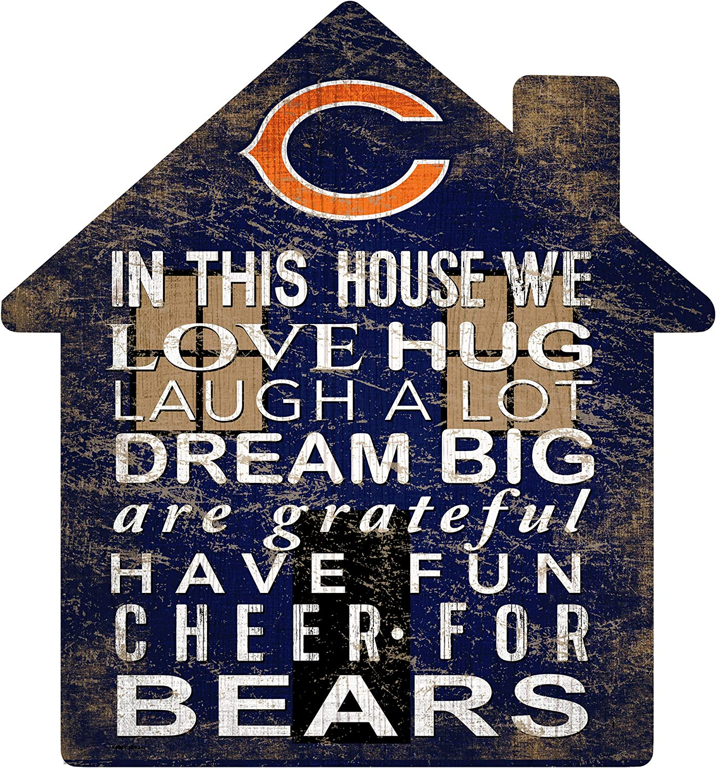 Fan Genuine Free Shipping Creations NFL Chicago House Sign Courier shipping free shipping Unisex Bears