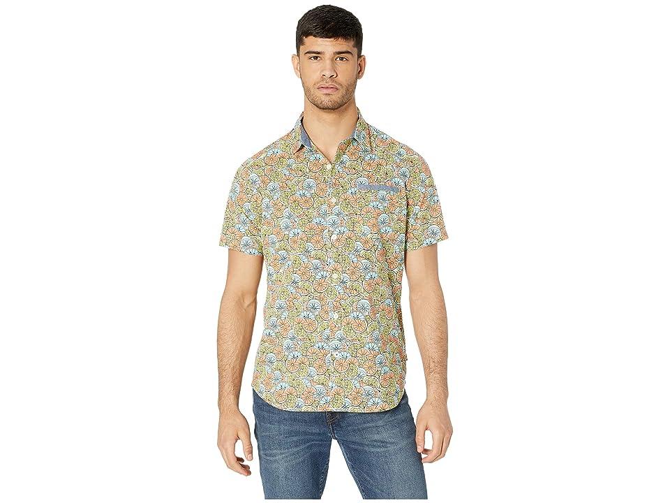 UNIONBAY Fletcher Short Sleeve Button Up Woven Shirt (Limeade) Men's Short Sleeve Button Up