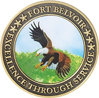 United States Army USA Fort Belvoir Washington Excellence Through Service Challenge Coin