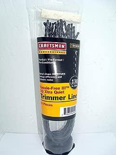 Craftsman Pre-Cut Spiral Shape XQ Xtra Quiet .130 Trimmer Line, 71-85909