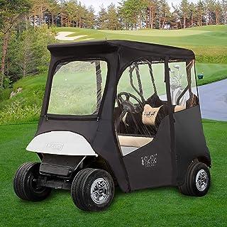 10L0L Golf Cart Deluxe Enclosures Fits EZGO TXT 2 Passenger 600D Waterproof Portable 4-Sided Protection Transparent Golf C...