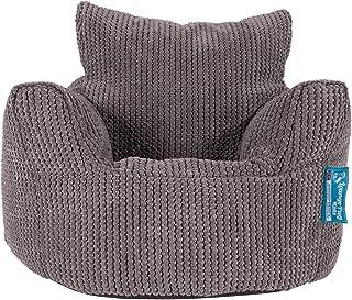 Lounge Pug®, Fauteuil Enfant, Pouf Enfant, Pompon Anthracite