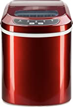 Best Choice Products VD-22769REEP Red Portable Compact Countertop Insulated Digital Automatic Maker Machine w Scoop, 2 Cube Sizes, 26lbs of Ice Daily