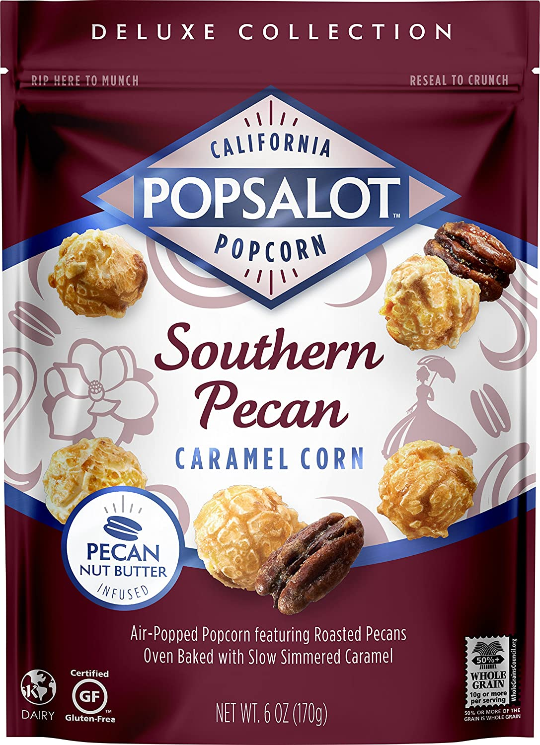 Popsalot Max 70% OFF Gourmet Popcorn Southern Cheap mail order specialty store Pecan Po 6-Ounce Caramel Corn