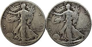 1939 P&D Walking Liberty Half Dollar 50c Average Circulated