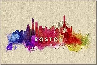 Boston, Massachusetts - Skyline Abstract (20x30 Premium 1000 Piece Jigsaw Puzzle, Made in USA!)