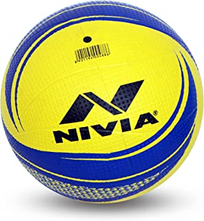Nivia Craters Moulded Volleyball(Size 4, Yellow/Blue)