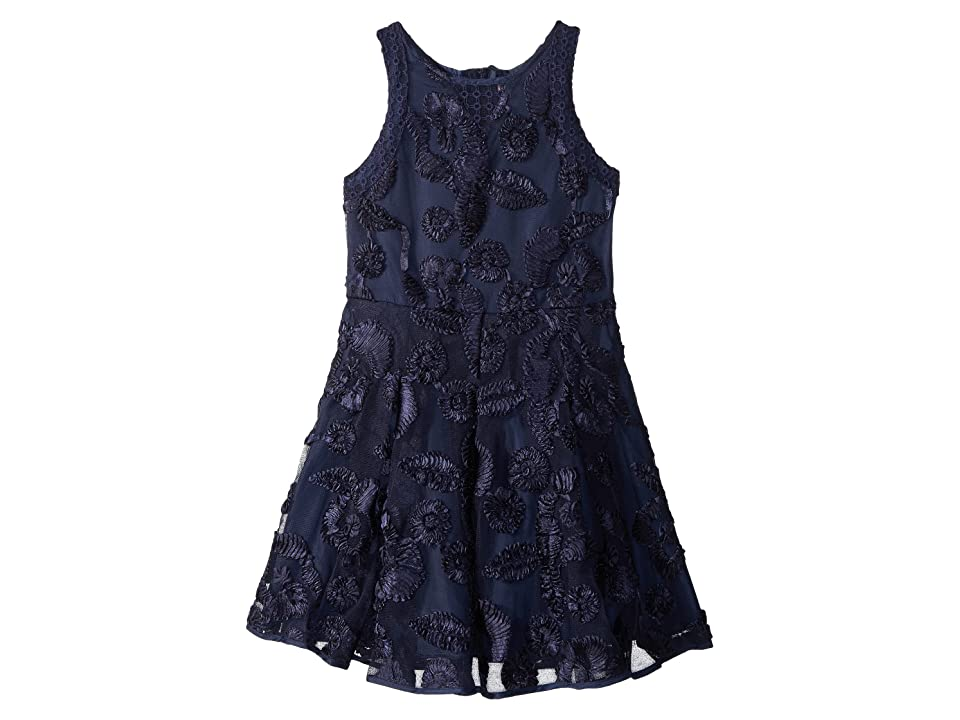 Nanette Lepore Kids Soutache Mesh Dress (Little Kids/Big Kids) (Navy) Girl