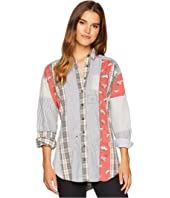 Free People All Patched Up Classic Button Down