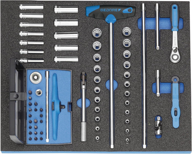 GEDORE 2005 CT2-D 20 Steckschlüssel-Sortiment 1 4  in in in Check-Tool-Modul, 67-TLG B007K67BNQ | Haltbarkeit  22e885