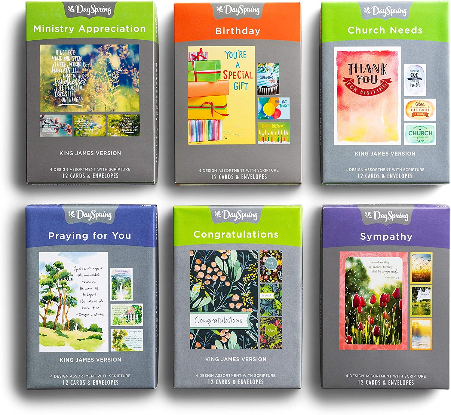 DaySpring Ministry Needs - Bundle of Car Total Cards 72 6 discount Boxed Year-end gift