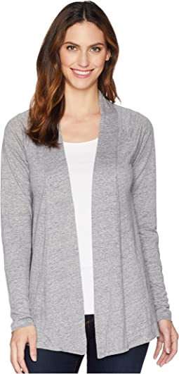 Linen Jersey Twist Back Cardigan