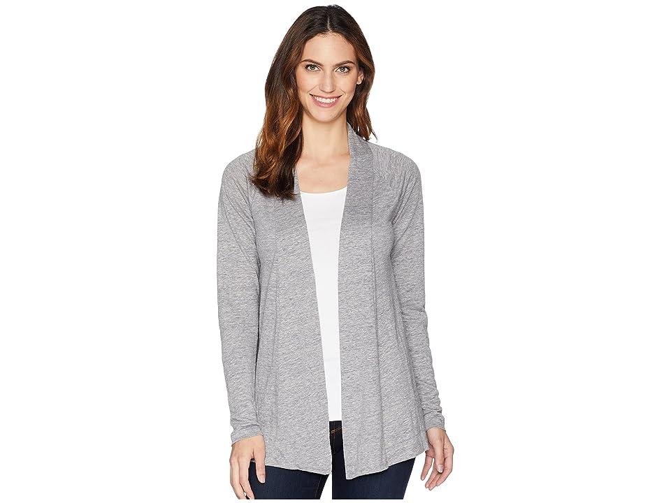 Mod-o-doc Linen Jersey Twist Back Cardigan (Grey) Women