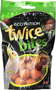 Ecotrition Twice Bites Cockatiel Treats, 4-Ounce (P-C2407)