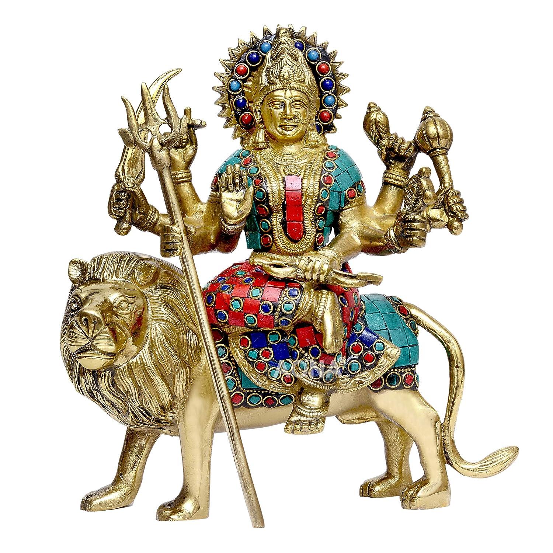 Buy Aona Durga Idol Shri Ambe Maa Brass Idol Shri Vaishno Devi Idol Sherawali Mata Idol Durga Mata Brass Idol Durga Mata Puja Idol Online At Low Prices In India Amazon In