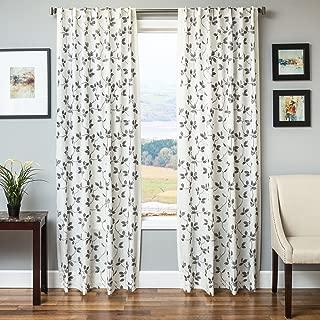 Softline Home Fashions 924ALB028BTUL96 Adelle Single Curtain Panel, Pewter