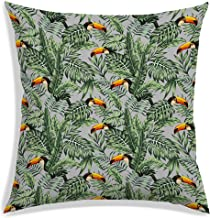 RADANYA Home Decorative Throw Pillow Covers Tropical Flower Leaves Polyester Cushion Covers-Insert not Included