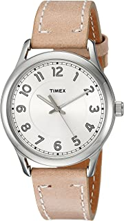 Timex Women's Quartz Watch, Analog Display and Leather Strap TW2R23200