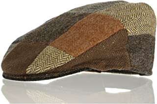 Hanna Hats Vintage Tweed Children's Irish Brown Patchwork Cap