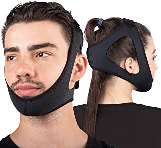 Sleep Legends Premium Anti Snoring Chin Strap w/ New Adjustable Hook 'N Loop Strap for Cpap Users - [2020 Release] - Snore Reduction Device - Snore Stopper Solution Men, Women